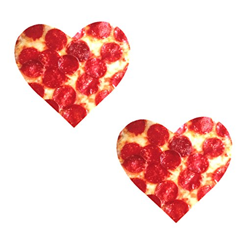 Neva Nude Pizza I Heart U Nipztix Pasties Nipple Covers -