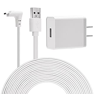 Aobelieve Outdoor Charger, Extension Power Cable and Charging Adapter for Arlo Pro, Arlo Pro 2, and Arlo Go Camera - 20 ft