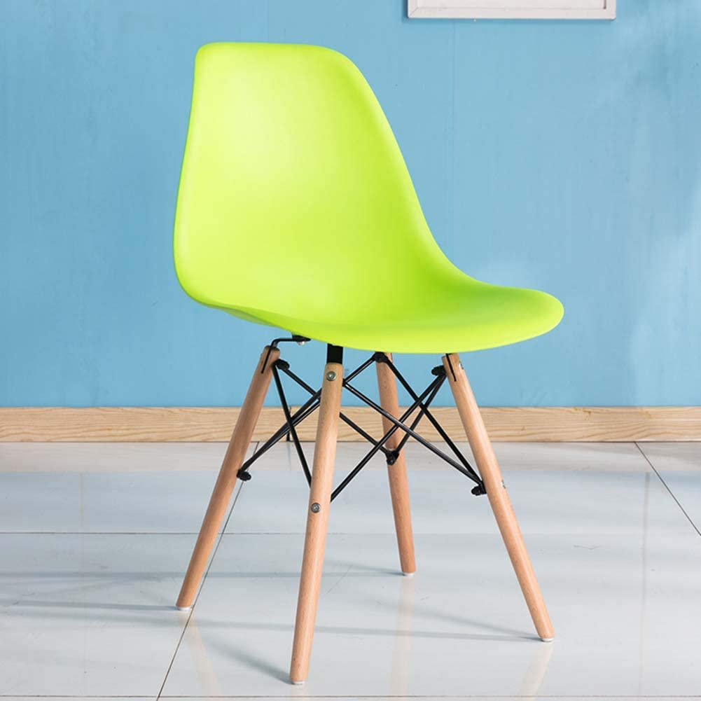 Dining Chair, Plastic Wood Retro Modern Furniture, Living Room, Desk, Patio, Kitchen,Office Modern Lounge Chair, Cafeterias Seat, Retro Design Style Chair,A