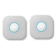Nest 2 Pack Protect Wired Smoke and Carbon Monoxide Alarm, White