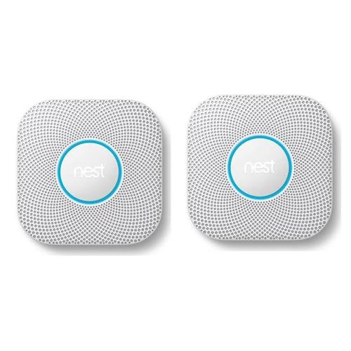Nest Protect 2nd Gen Wired Smoke and Carbon Monoxide Alarm, White - 2-Pack by Adorama
