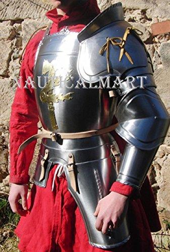 NAUTICALMART Medieval Knight Reenactment Steel Armour Breastplate Halloween