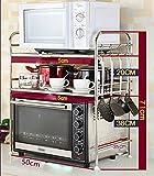 Kitchen Shelf / Floor Stainless Steel / Layer 2 / Layer 3 / Storage Accessories Storage Oven / Microwave Rack / Shelf ( Style : C )