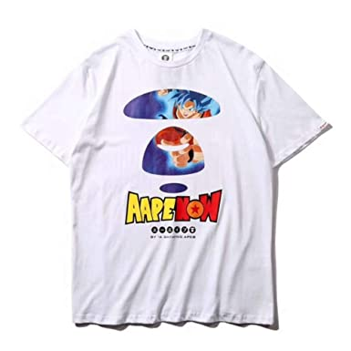 d533d23d GoldBucket 1501-Teenage Adult Hot Topic T-Shirt (Bape Dragon Ball Z White