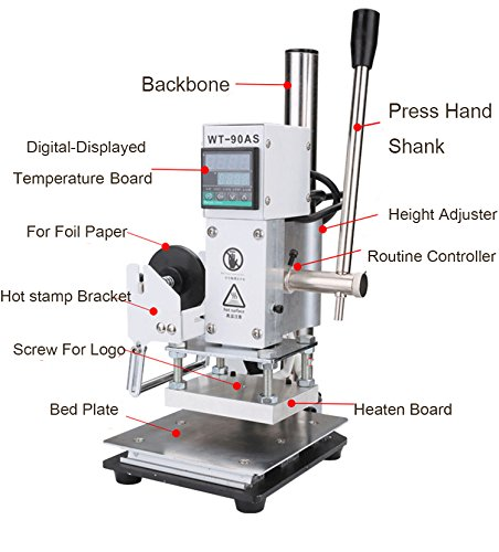 Hot foil Stamp Machine Digital Display For Leathers, Book, Paper, Wood, And bamboo (100130) WILD•D Stmap-09