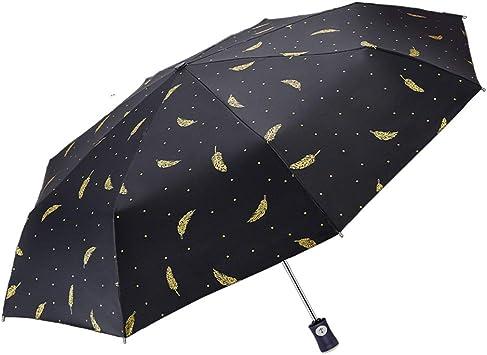 FDJASGY Compact Travel UV Umbrella Rain Umbrellas Blocking UV 99.98/% Carnations