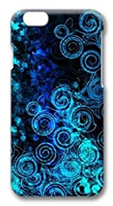 Xuey for iPhone6 Case Deep dark blue circle Shockproof phone back shell + Retail Packaging