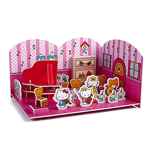 Hello Kitty 3D Puzzles for Kids Fun Creative Artwork 3D Jigsaw Puzzles Toy Gift for Girls and Boys Age 4-8(Music Classroom)
