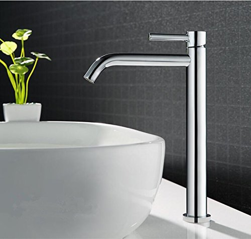 B Makej Total Brass Basin Faucet Chrome Finished Hot and Cold Single Lever Bathroom Basin Sink Mixer Tap B