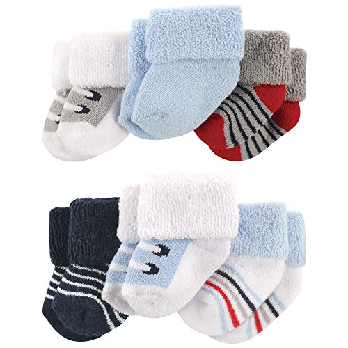 Luvable Friends Baby Newborn Terry Socks, 6 Pack