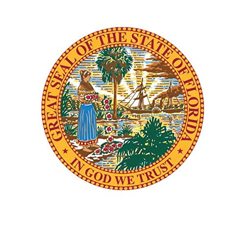 - ION Graphics Florida State Seal Sticker Decal Vinyl State Southeastern South 5