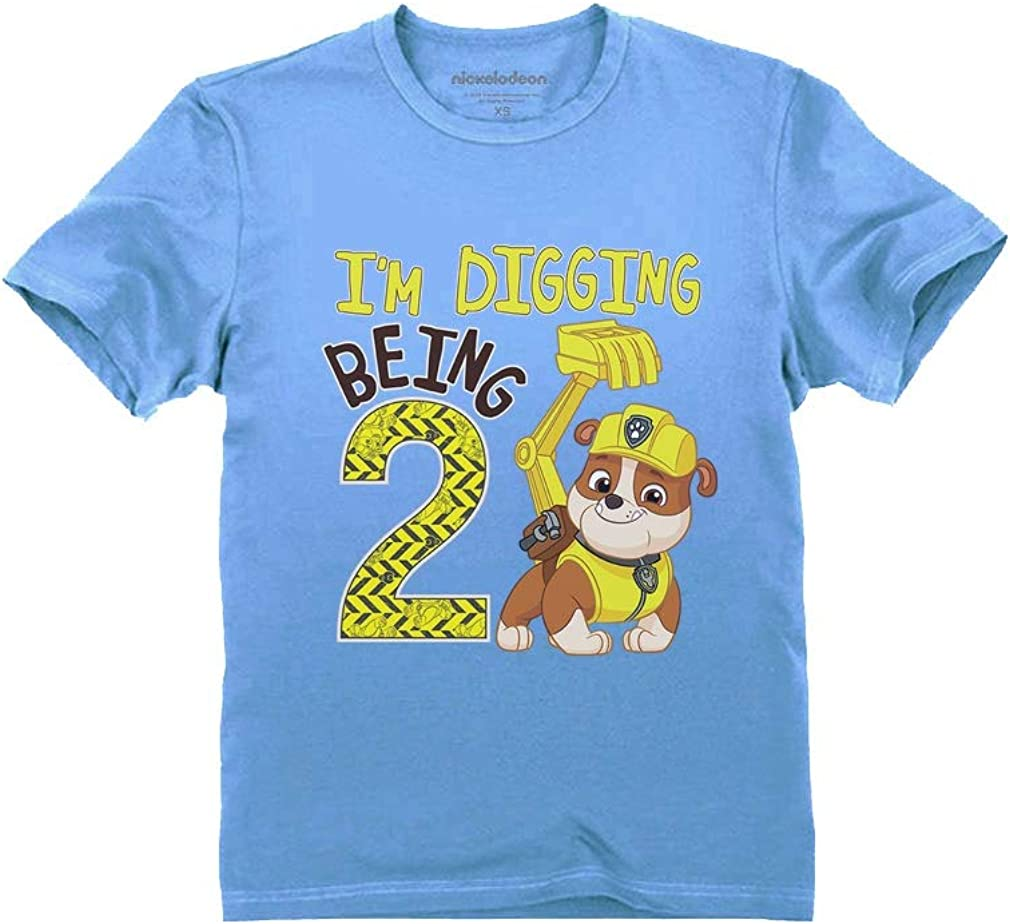 Paw Patrol Rubble Digging 2nd Birthday Official Nickelodeon Toddler Kids T-Shirt