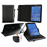 Emartbuy® GoClever Insignia 800 Win 8 Inch Tablet Universal ( 7 - 8 Inch ) Black Premium PU Leather 360 Degree Rotating Stand Folio Wallet Case Cover + Black Stylus