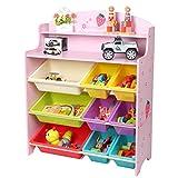 JAJXRCK Kids Toy Storage Organizer Children's Toy Storage Box Toy Storage Shelf-Without Box Storage Box Shelf Drawer (Color : Pink, Size : 10079.530CM.)
