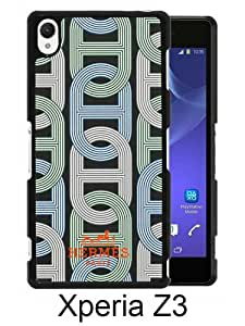 New Fashionable And Durable Designed Case For Sony Xperia Z3 With Hermes 17 Black Phone Case