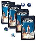 Freeze Dried Astronaut Ice Cream Neapolitan and Space Sticker Party Bundle