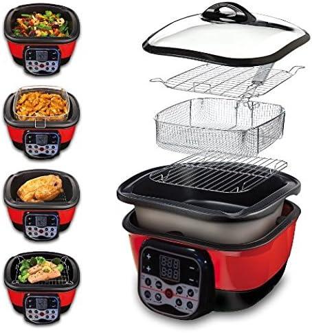 Speed Chef Digital - Robot de cocina 8 en 1, color rojo y negro: Amazon.es