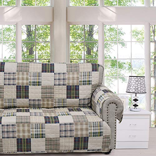 (Greenland Home Oxford Slipcover, Sofa, Plaid)
