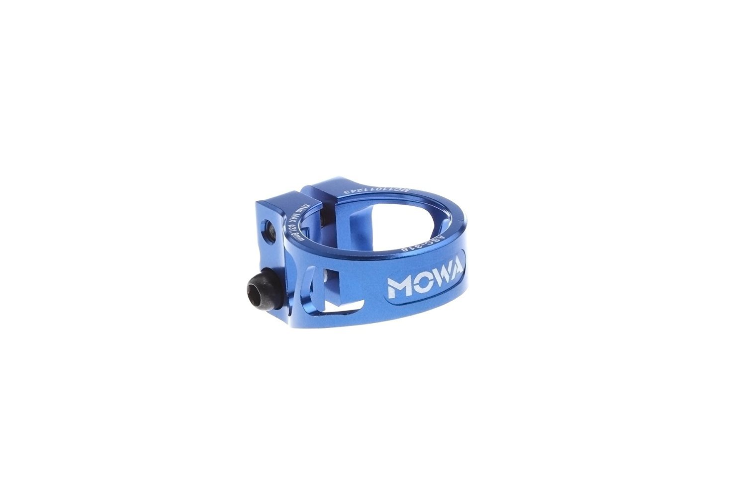 MOWA ASC Road Cyclocross CX Mountain Bicycle MTB Bike Cycling Alloy Seatpost Clamp 31.8 and 34.9 (Blue, 31.8mm) by MOWA