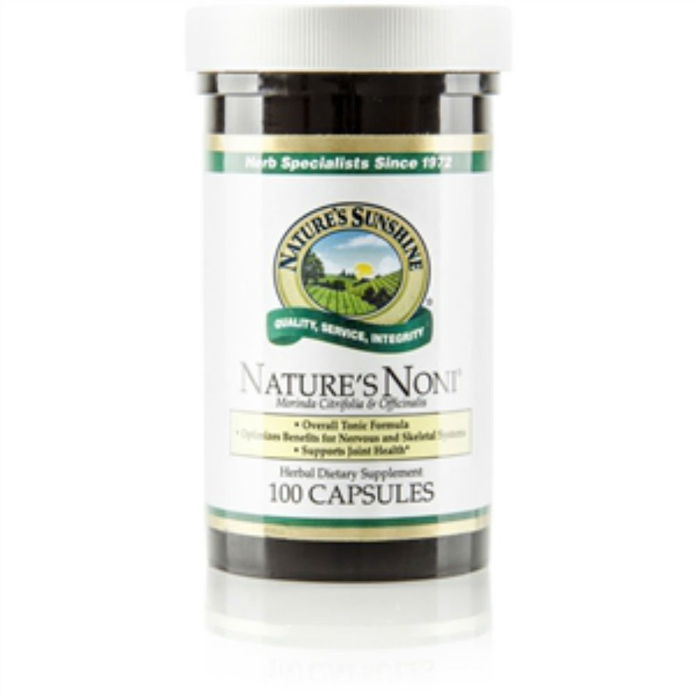 Naturessunshine Nature's Noni Supports Joint Health Herbal Combination Supplement 100 Capsules (Pack of 2)