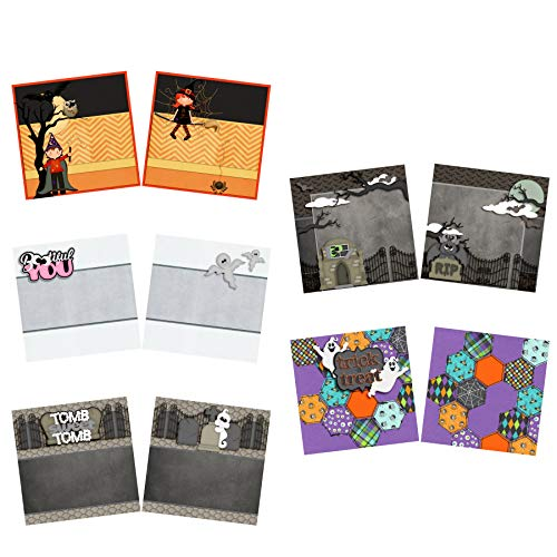 Trick or Treat NPM - Halloween Scrapbook Set - 5 Double Page Layouts -
