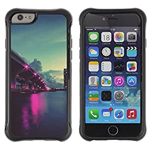 Pulsar Defender Series Tpu silicona Carcasa Funda Case para Apple iPhone 6 Plus(5.5 inches), Nature Pink City Ligts