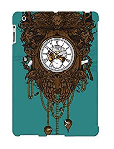 Crazinesswith Case Cover Protector Specially Made For Ipad 2/3/4 Victorian Clock