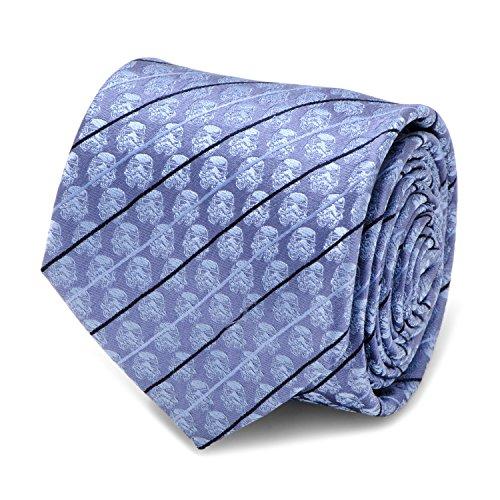 Star Wars Stormtrooper Blue Modern Stripe Men's Tie, Officially Licensed
