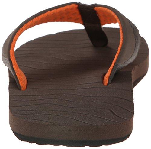 Reef Mens Roundhouse Sandal Brown/Orange aP9hSw1W