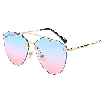 Z&HA Gafas De Sol Sin Montura para Mujeres, Gafas De Sol ...