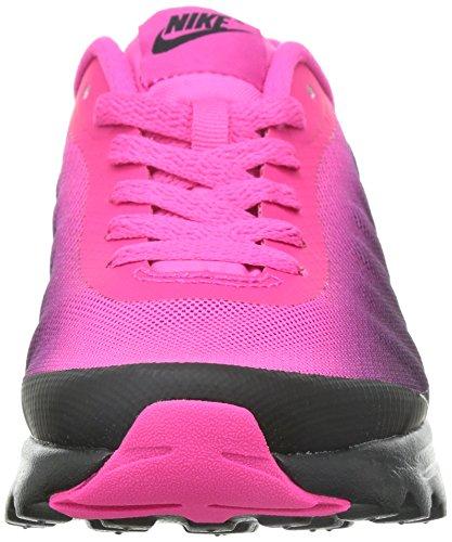 Nike Womens Air Max Invigor Stampa Scarpa Da Corsa Nero / Argento Metallizzato / Rosa Fl / Sprt Fc