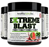 Pre Workout EXTREME BLAST 30 servings Powerful Pre Workout- Muscle Builder, Fat Burner, and Energy Drink all in 1- WaterMelon Flavor