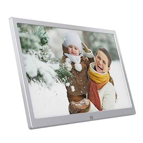 Quality Show Mosaic Silver (Metal Digital Picture Frames(13-inch)- Electronic Photo Album- HD Advertising Player- Music Player- Video Player- Album Slideshow- Electronic Calendar Clock(13
