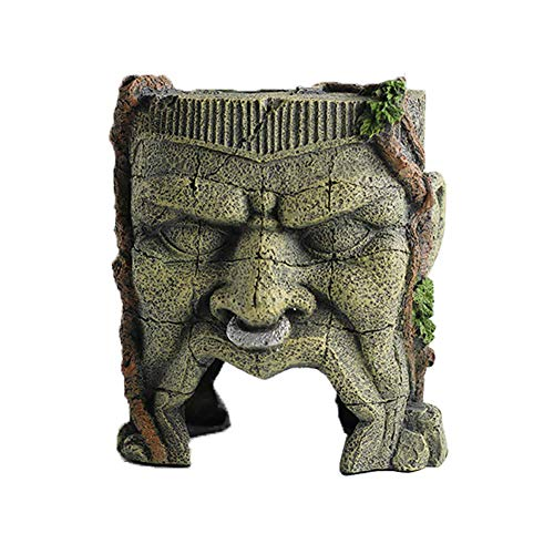 (Pet Products Fish Tank Decorations Ancient Tunnel Ruins Ornaments Ornament for Aquarium Monster Large)