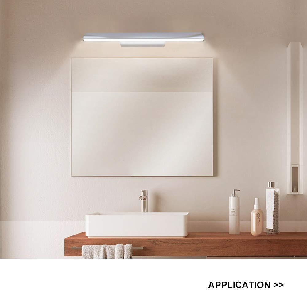 Luxvista Lampada a LED Bagno a Specchio 5W 300mm Illuminazione per Foto a LED Lampada Frontale a Risparmio Energetico Bianco Caldo 3000K IP44 Impermeabile LED Luce per Trucco 230V