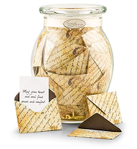 GiftTree Sympathy Jar of Wishes | 31 Notes of Encouragement and Inspiration | Unique Bereavement, Funeral, Loss Gift