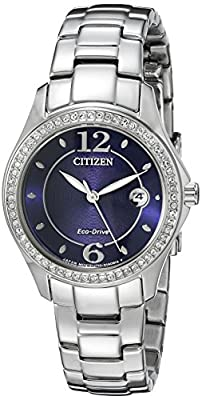 Citizen Women's Eco-Drive Silhouette Crystal Watch with Date, FE1140-86L from Citizen Watch Company