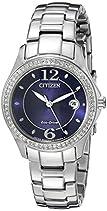 Citizen Eco-Drive Women's FE1140-86L Silhouette Crystal Watch
