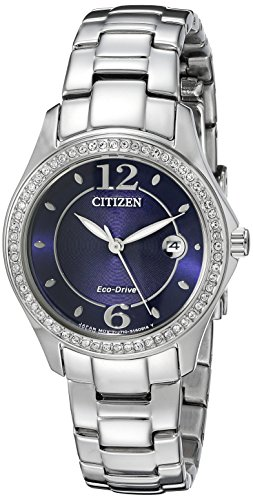 Citizen Women's Eco-Drive  Silhouette Crystal Watch with Date, FE1140-86L (Best Deals On Citizen Eco Drive Watches)