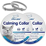 EXPAWLORER 2 Pcs Calming Collar for Cats - Relieve Reduce Anxiety Your Pets, Adjustable Natural Pheromones Formula, Long Last