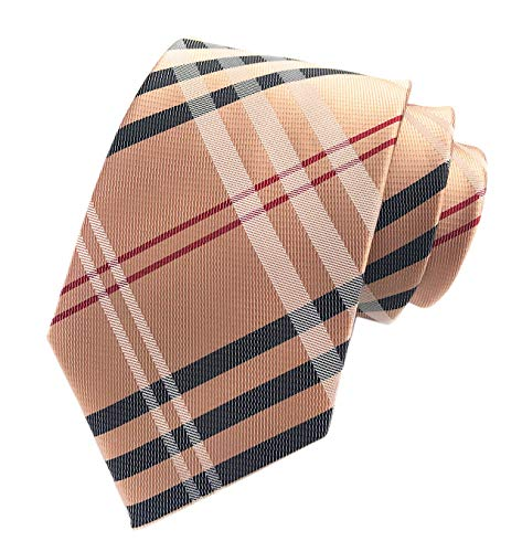 Men's Brown Red Black Woven Casual Preppy Stylish Tie Necktie Presents Gift Idea