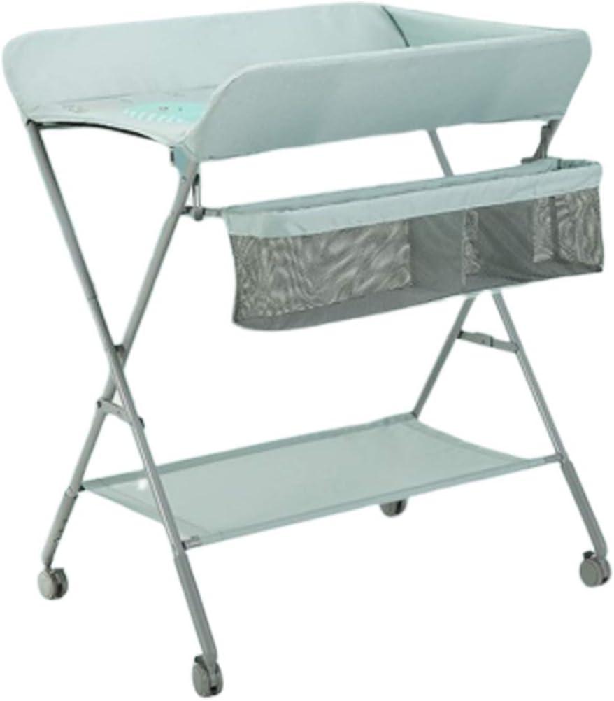おむつテーブルの交換 多目的 チェンジャーステーション ホイール付き ベビードレッサー 0〜3歳 保育園、 高さ96cm調節可能