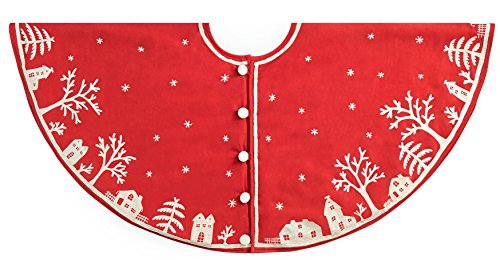 Arcadia Home Snowy Village Tree Skirt