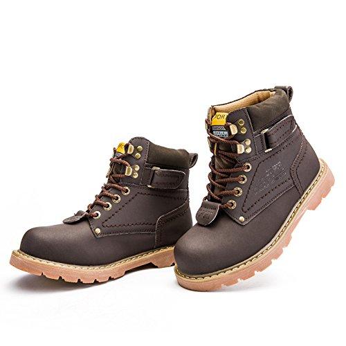 ENLEN&BENNA Women\Men's Work Boots Safety Boots Composite Toe Cap Waterproof Tan Casual Motorcycle Boot Lightweight B07F7B484S 6.5 D(M) US|Brown2-fur