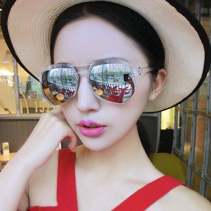 de nouvelles lunettes de soleil les lunettes de soleil les yeux des femmes élégante korean mesdames la personnalité des étoiles un miroirmercury blanche (tissu) transparence Rt0taG8OaV