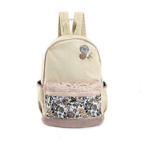 Shoulder School Womens Canvas Students Escu Backpack Bag High Girls School Tide New Ladies 2017 Version Korean Bag HxZxzTw