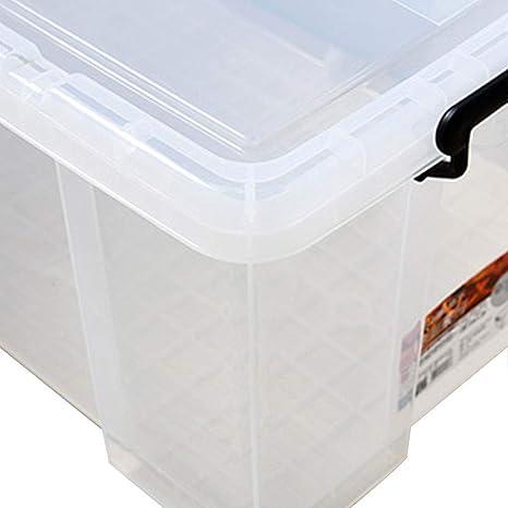 Storage Box Caja De Almacenamiento De Plástico Transparente De Gran Tamaño, Caja De Almacenamiento De Dormitorio, Plástico Grueso, con Tapa 38 litros, 42 litros, 54 litros, 100 litros, 150 litros: Amazon.es: Hogar