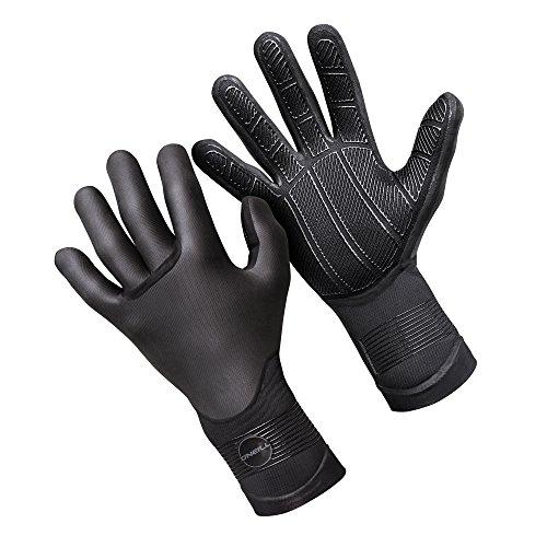 (O'Neill Psycho Tech 3mm Gloves, Black, Medium)