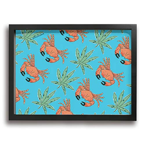 Redeast Print Framed Canvas Wall Art Decorative Painting Hanging Picture Artwork Wall Decoration - (Stone Crab Grass Art,15.74 X 11.81 Inch)
