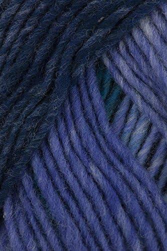 wool knitting yarn Blue-Wine-Orange-Yellow :Kureyon #170: NORO